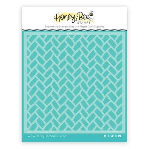 Honey Bee Stamps - Stencils - Basketweave Background