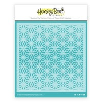 Honey Bee Stamps - Vintage Holiday Collection - Stencils - Crystal Kaleidoscope Background