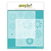 Honey Bee Stamps - Vintage Holiday Collection - Stencils - Layering Fireworks