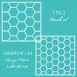 Honey Bee Stamps - Stencil - Hexagon Patterns
