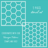 Honey Bee Stamps - Stencil - Hexagon Patterns