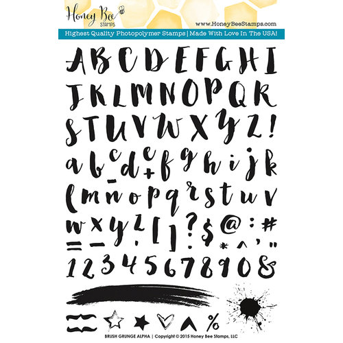 Honey Bee Stamps - Clear Acrylic Stamps - Brush Grunge Alpha