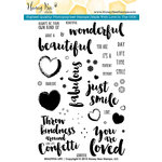 Honey Bee Stamps - Clear Acrylic Stamps - Beautiful Life