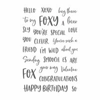 Honey Bee Stamps - Clear Acrylic Stamps - Foxy Sentiments