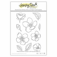 Honey Bee Stamps - Clear Photopolymer Stamps - Spring Blossoms