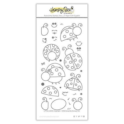Honey Bee Stamps - Clear Photopolymer Stamps - Little Ladies