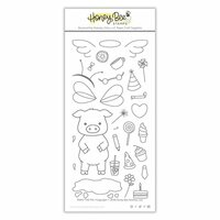Honey Bee Stamps - Clear Photopolymer Stamps - Pinky The Pig