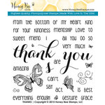 Honey Bee Stamps - Clear Acrylic Stamps - Thanks