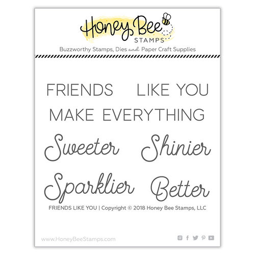 Honey Bee Stamps - Clear Photopolymer Stamps - Friends Like You