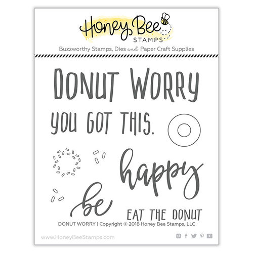 Honey Bee Stamps - Clear Photopolymer Stamps - Donut Worry