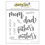 Honey Bee Stamps - Clear Acrylic Stamps - Best Parents