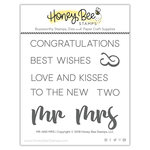 Honey Bee Stamps - Clear Acrylic Stamps - Mr and Mrs