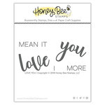 Honey Bee Stamps - Clear Acrylic Stamps - Love You