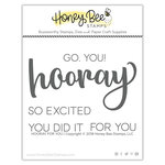 Honey Bee Stamps - Clear Acrylic Stamps - Hooray For You