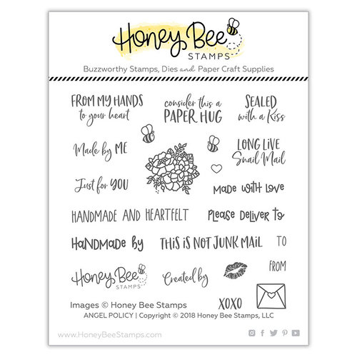 Honey Bee Stamps - Clear Photopolymer Stamps - Angel Policy