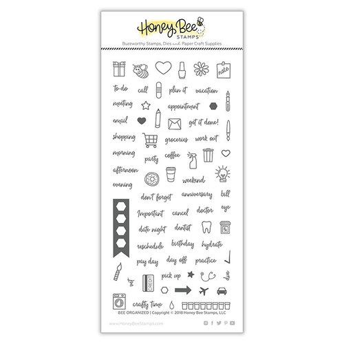 Honey Bee Stamps - Clear Photopolymer Stamps - Bee Organized