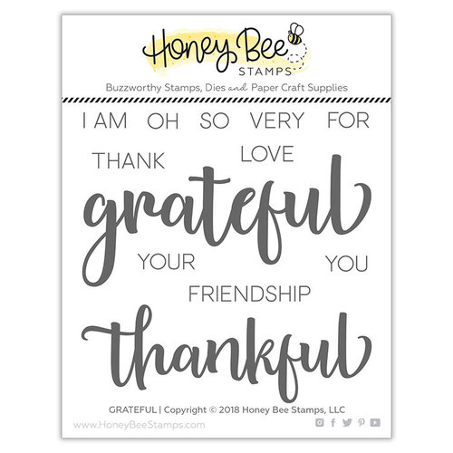 Honey Bee Stamps - Clear Photopolymer Stamps - Grateful