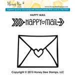 Honey Bee Stamps - Clear Acrylic Stamps - Happy Mail