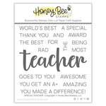 Honey Bee Stamps - Clear Photopolymer Stamps - Special Teacher