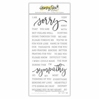 Honey Bee Stamps - Clear Photopolymer Stamps - With Sympathy