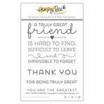 Honey Bee Stamps - Clear Photopolymer Stamps - Truly Great Friend
