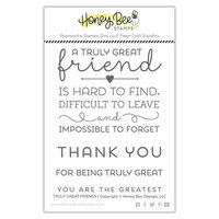 Honey Bee Stamps - Clear Photopolymer Stamps - Truly Great Friends