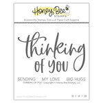 Honey Bee Stamps - Clear Photopolymer Stamps - Thinking of You