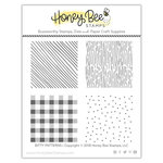 Honey Bee Stamps - Clear Photopolymer Stamps - Bitty Patterns