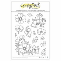 Honey Bee Stamps - Clear Photopolymer Stamps - Winter Anemone