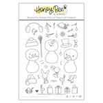Honey Bee Stamps - Clear Acrylic Stamps - Snow Buddies