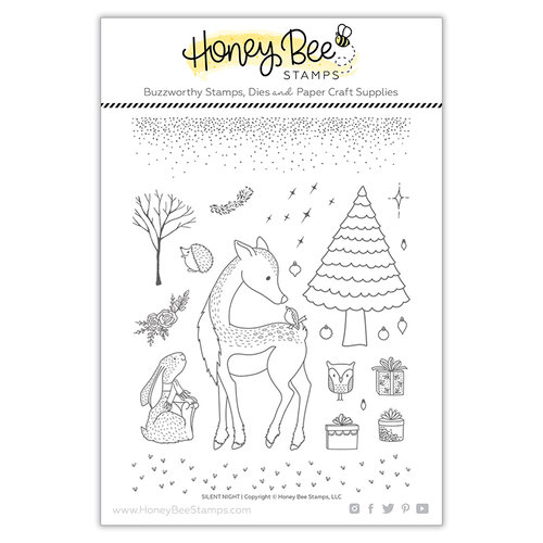 Honey Bee Stamps - Christmas - Clear Photopolymer Stamps - Silent Night