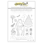 Honey Bee Stamps - Christmas - Clear Acrylic Stamps - Silent Night
