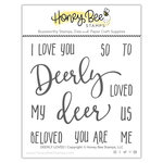 Honey Bee Stamps - Christmas - Clear Acrylic Stamps - Deerly Loved