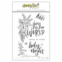 Honey Bee Stamps - Christmas - Clear Photopolymer Stamps - Rejoice