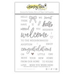 Honey Bee Stamps - Clear Acrylic Stamps - Welcome Home