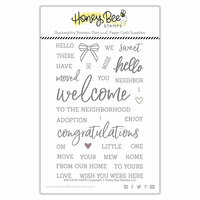 Honey Bee Stamps - Clear Photopolymer Stamps - Welcome Home