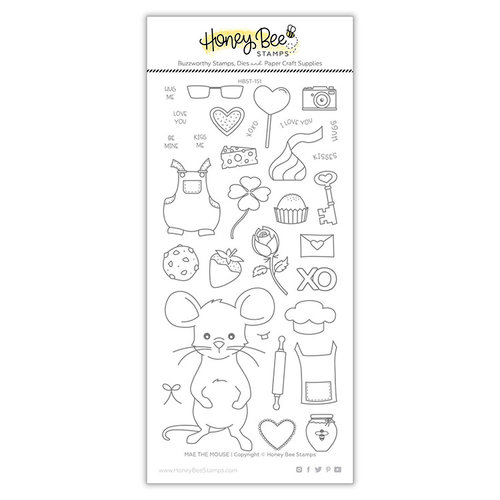 Honey Bee Stamps - Clear Photopolymer Stamps - Mae The Mouse