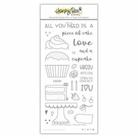 Honey Bee Stamps - Clear Photopolymer Stamps - Piece Of Cake