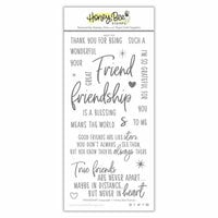 Honey Bee Stamps - Clear Photopolymer Stamps - Friendship
