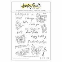 Honey Bee Stamps - Clear Photopolymer Stamps - Fluttering By