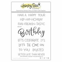 Honey Bee Stamps - Clear Photopolymer Stamps - Happy Birthday