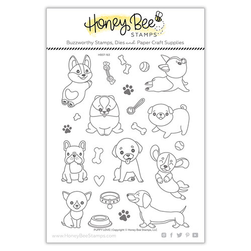 Honey Bee Stamps - Clear Photopolymer Stamps - Puppy Love