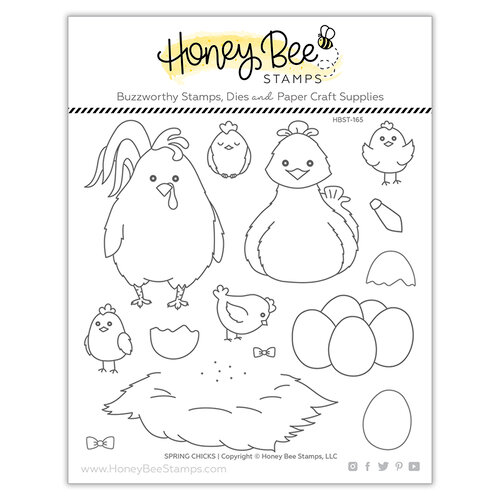 Honey Bee Stamps - Clear Photopolymer Stamps - Spring Chicks