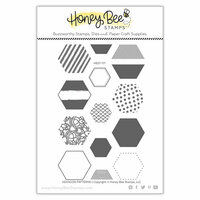 Honey Bee Stamps - Clear Photopolymer Stamps - Hexagon Patterns