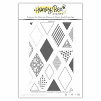 Honey Bee Stamps - Clear Photopolymer Stamps - Diamond Patterns