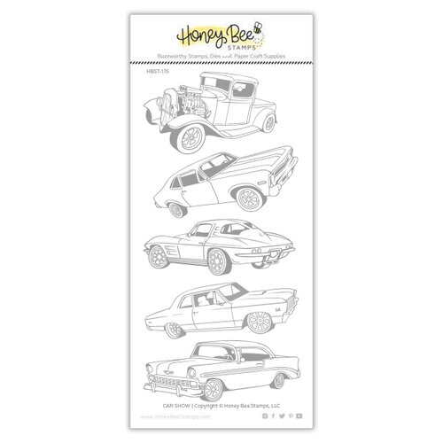Honey Bee Stamps - Clear Photopolymer Stamps - Car Show