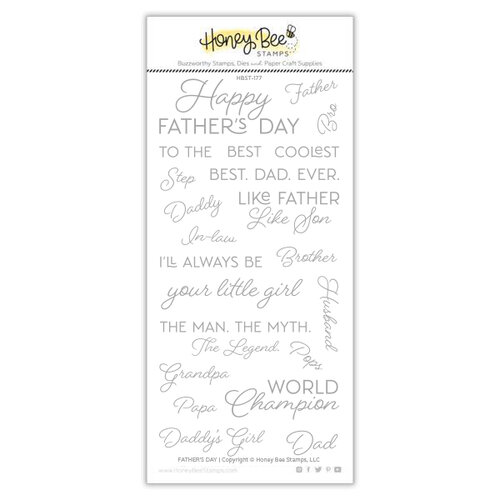 Honey Bee Stamps - Clear Photopolymer Stamps - Father's Day