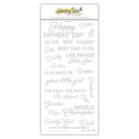 Honey Bee Stamps - Clear Acrylic Stamps - Father's Day