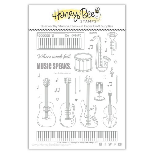 Honey Bee Stamps - Clear Photopolymer Stamps - Music Speaks