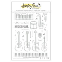 Honey Bee Stamps - Clear Acrylic Stamps - Music Speaks